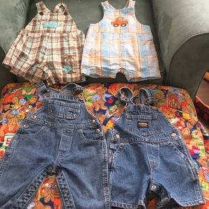 Other - Lot of boys overalls together